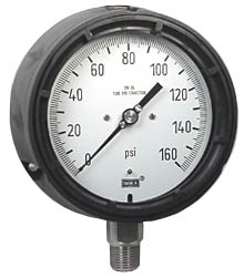 "WIKA Process Pressure Gauge 4.5"", 160 PSI, Liquid Filled"
