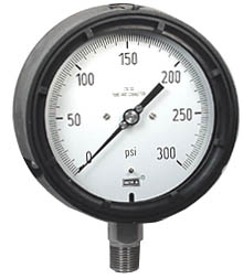 "Process Pressure Gauge 4.5"", 300 PSI, Liquid Filled"