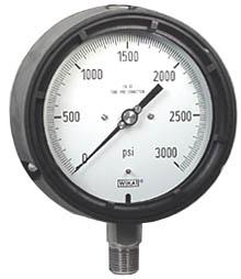 "WIKA Process Pressure Gauge 4.5"", 3000 PSI, Liquid Filled"