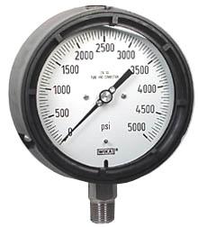 "WIKA Process Pressure Gauge 4.5"", 5000 PSI, Liquid Filled"
