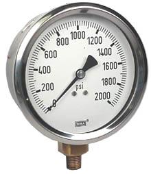 "WIKA Industrial Pressure Gauge 4"", 2000 PSI"