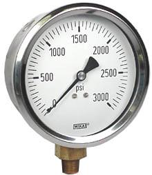 "WIKA Industrial Pressure Gauge 4"", 3000 PSI"