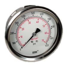 "WIKA Industrial Pressure Gauge 4"", 1000 PSI"