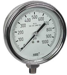 """WIKA Stainless Steel Pressure Gauge 4"""", 1000 PSI"""