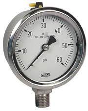 """Stainless Steel Pressure Gauge 2.5"""", 60 PSI"""