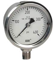 """WIKA Stainless Steel Pressure Gauge 2.5"""", 400 PSI"""