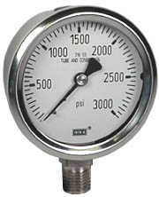 "WIKA Stainless Steel Pressure Gauge 2.5"", 3000 PSI"