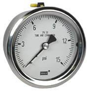 """WIKA Stainless Steel Pressure Gauge 2.5"""", 15 PSI"""