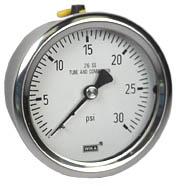 """Stainless Steel Pressure Gauge 2.5"""", 30 PSI"""
