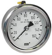"""Stainless Steel Pressure Gauge 2.5"""", 160 PSI"""