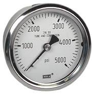 """WIKA Stainless Steel Pressure Gauge 2.5"""", 5000 PSI"""