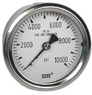 """WIKA Stainless Steel Pressure Gauge 2.5"""", 10,000 PSI"""