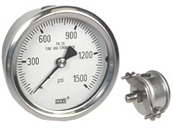 "U-Clamp Panel Mt Stainless Gauge 2.5"", 1500 PSI"