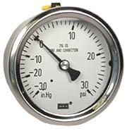 "WIKA Stainless Steel Gauge 2.5"", 30""Hg-0-30 PSI , LF"