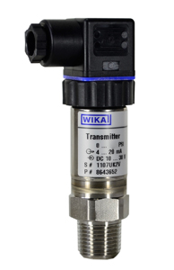 WIKA Industrial Pressure Transmitter 0-600 PSI, 4-20mA