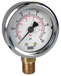 "WIKA Industrial Pressure Gauge 2"", 100 PSI/Bar"