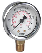 "WIKA Industrial Pressure Gauge 2"", 1000 PSI/Bar"