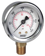 "WIKA Industrial Gauge 2"", 3000 PSI/Bar, Liquid Filled"