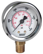 "WIKA Industrial Gauge 2"", 5000 PSI/Bar, Liquid Filled"