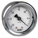 """WIKA Industrial Vacuum Gauge 2"""", 30"""" Hg"""