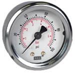 "WIKA Industrial Pressure Gauge 2"", 100 PSI/Bar"