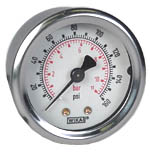 "WIKA Industrial Pressure Gauge 2"", 160 PSI/Bar"