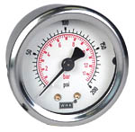 "WIKA Industrial Pressure Gauge 2"", 200 PSI/Bar"