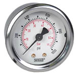 "WIKA Industrial Pressure Gauge 2"", 1000 PSI/Bar"