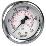 "WIKA Industrial Pressure Gauge 2"", 1500 PSI/Bar"