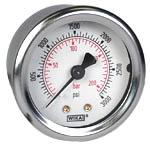 "WIKA Industrial Pressure Gauge 2"", 3000 PSI/Bar"