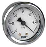 "WIKA Industrial Vacuum Gauge 2"", 30""Hg, Liquid Filled"