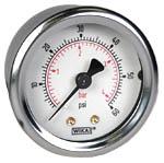"WIKA Industrial Pressure Gauge 2"", 60 PSI/Bar, Liquid Filled"