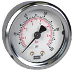 "WIKA Industrial Pressure Gauge 2"", 100 PSI/Bar, Liquid Filled"