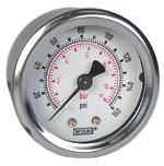 "WIKA Industrial Pressure Gauge 2"", 160 PSI/Bar, Liquid Filled"