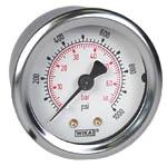 "WIKA Industrial Pressure Gauge 2"", 1000 PSI/Bar, Liquid Filled"