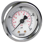 "WIKA Industrial Pressure Gauge 2"", 2000 PSI/Bar, Liquid Filled"