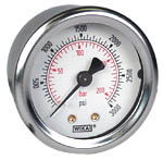 "WIKA Industrial Pressure Gauge 2"", 3000 PSI/Bar, Liquid Filled"