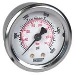 "WIKA Industrial Pressure Gauge 2"", 5000 PSI/Bar, Liquid Filled"