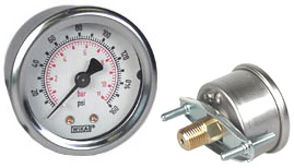 "WIKA U-Clamp Panel Mt Pressure Gauge 2"", 160 PSI/Bar"