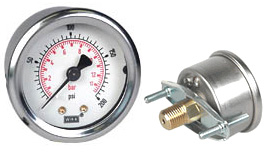 "WIKA U-Clamp Panel Mt Pressure Gauge 2"", 200 PSI/Bar"