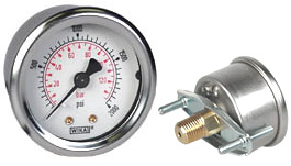 "WIKA U-Clamp Panel Mt Pressure Gauge 2"", 2000 PSI/Bar"