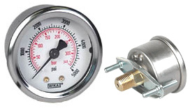 "WIKA U-Clamp Panel Mt Pressure Gauge 2"", 5000 PSI/Bar"