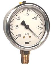 """WIKA Industrial Vacuum Gauge 2.5"""", 30"""" Hg"""