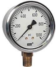 """Industrial Pressure Gauge 2.5"""", 1000 PSI"""