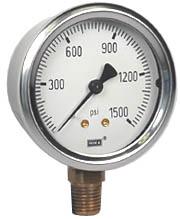 """Industrial Pressure Gauge 2.5"""", 1500 PSI"""