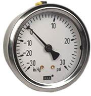 "WIKA Industrial Compound Gauge 2.5"", 30""Hg-0-30 PSI"