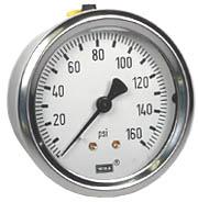 "WIKA Industrial Pressure Gauge 2.5"", 160 PSI"