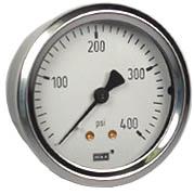 "WIKA Industrial Pressure Gauge 2.5"", 400 PSI"