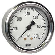 "WIKA Industrial Pressure Gauge 2.5"", 600 PSI"