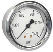 "WIKA Industrial Pressure Gauge 2.5"", 1500 PSI"